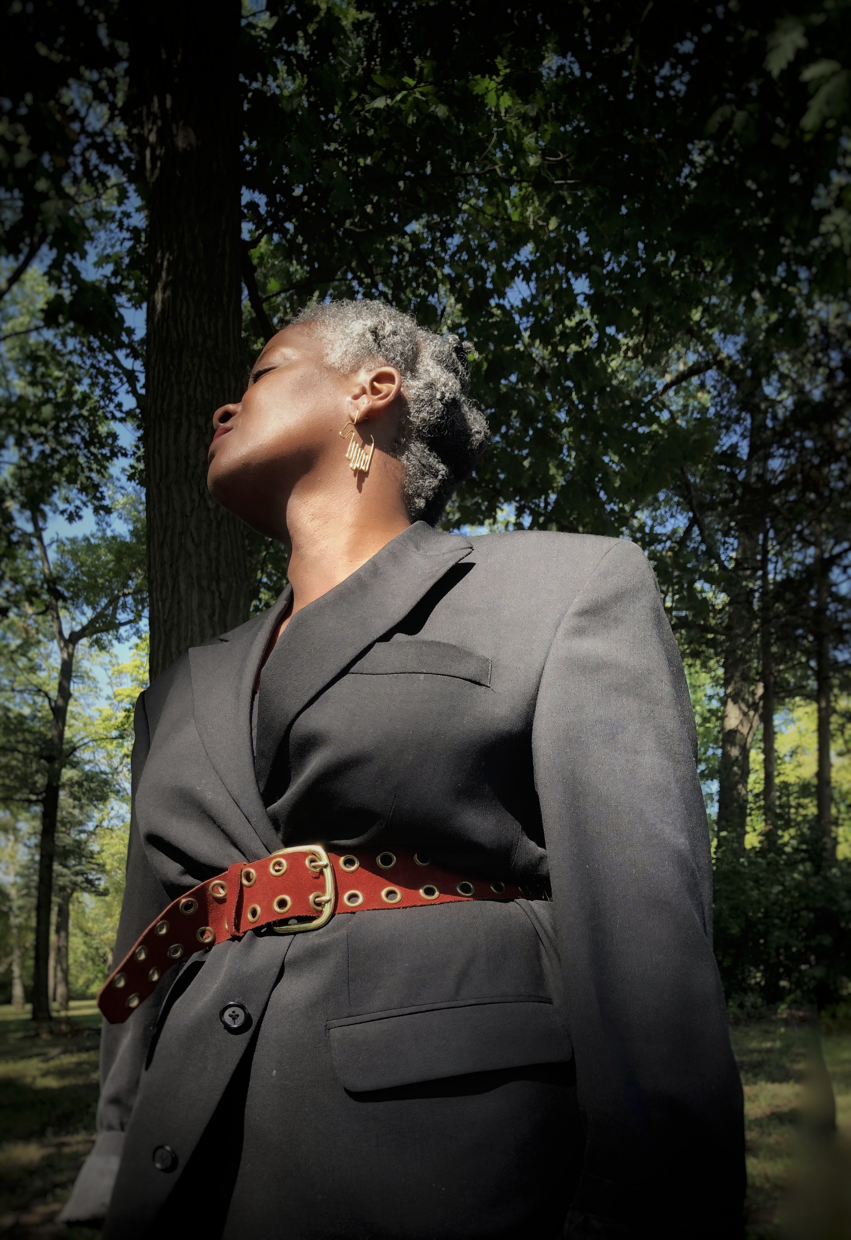 Natural Hair Diary: Shante On Going Gray, Aging Well, and Being an Artist