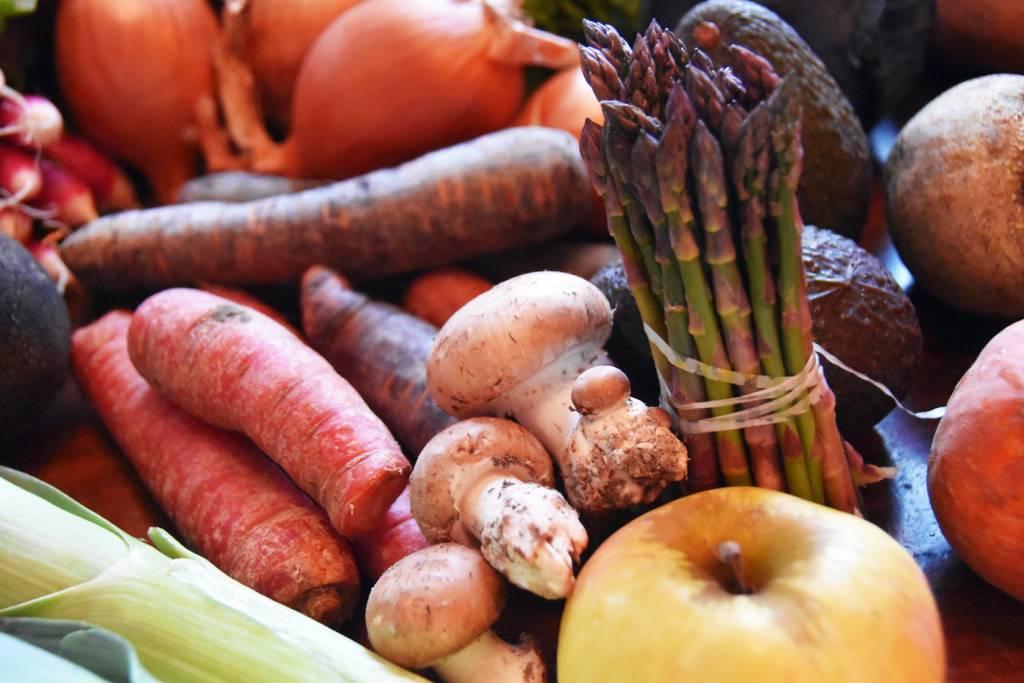 retour de marché légumes bio accueil