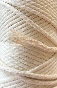 corde peignée en coton écru