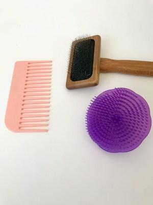 brosse et peigne pour macramé