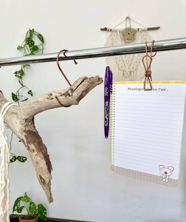 Crochet pince pour macramé en acier inoxydable papeterie pince papier