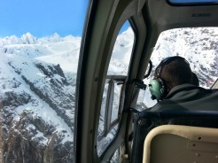 Franz Jossef. Excursión en helicóptero