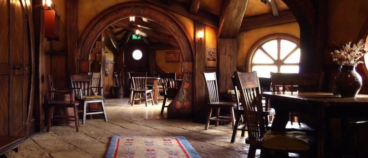 Interior de la posada