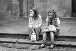 Two French girls Basilique Notre Dame