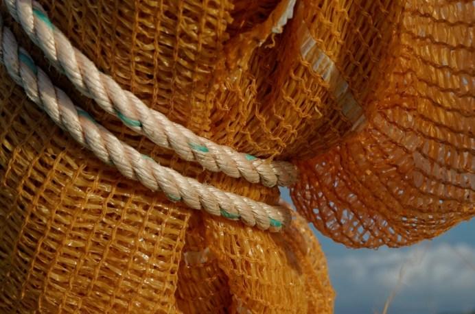filet, cordage, bateau, port de Koréjou, Plouguerneau, finistère