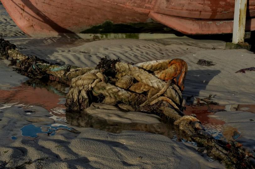méli-mélo corde chaine, port de Koréjou, Plouguerneau, finistère