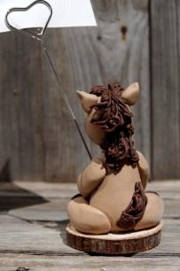cheval porte photo en porcelaine froide