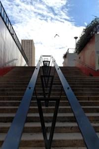 escalier esplanade les Olympiades Paris 13e