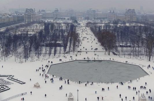 Le jardin des Tuileries, depuis la Grande Roue à 60m de hauteur.