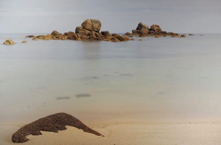 Cléder - pose longue - plage - rochers