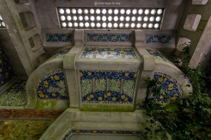 Manoir Colimaçon mosaïques en façade 02 copie