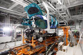Archivo. Interior de la fábrica de VW Navarra. (Foto VW). Fábricas de coches, planta de vehículos