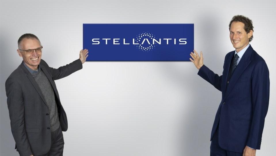 El CEO de Stellantis, Carlos Tavares, y su presidente, John Elkann.