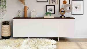 como combinar muebles oscuros con claros