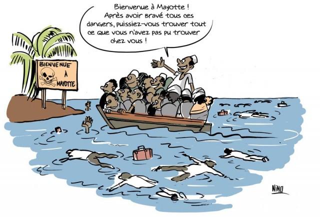 Le dessin de Nino : « Bienvenue à Mayotte »