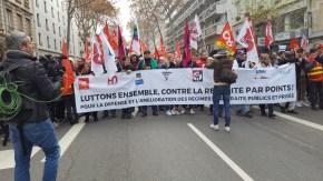 Lyon, la banderole de tête.