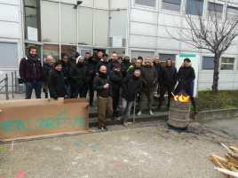 Piquet de grève RATP à Aubervilliers
