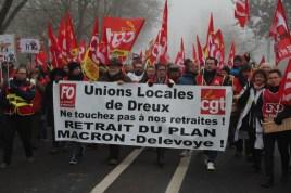 La manifestation de Dreux