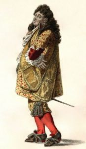 A 19th century costume for the role of Mr. Jourdain, title character of The Would-be Gentleman