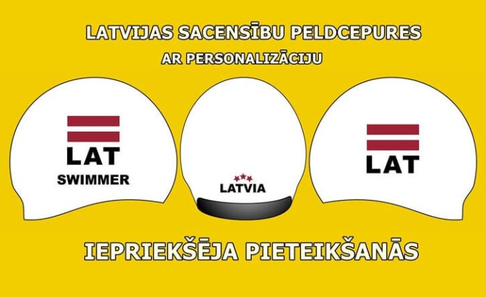Latvijas peldcepures 3D personalizētas