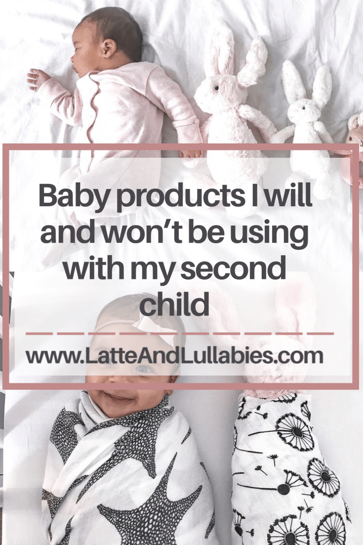 Baby products I will and won't be using with my second child