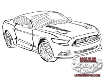2015 Ford Mustang drawn by Elle