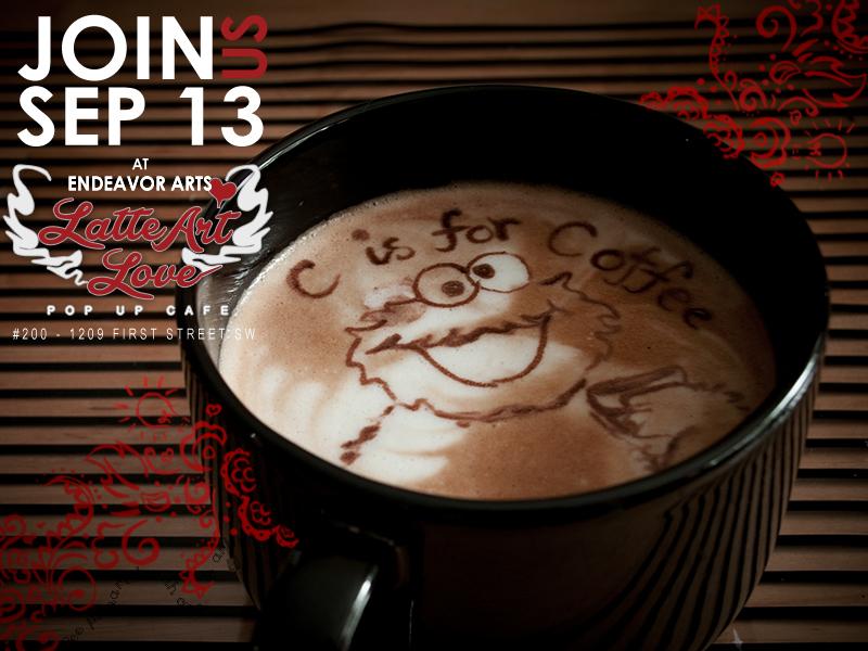 Latte Art Love - Cookie Monster