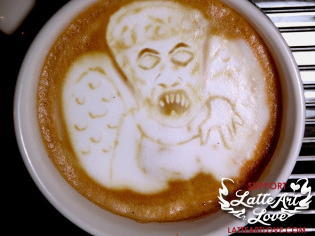 Latte Art - Doctor Who - The Weeping Angel