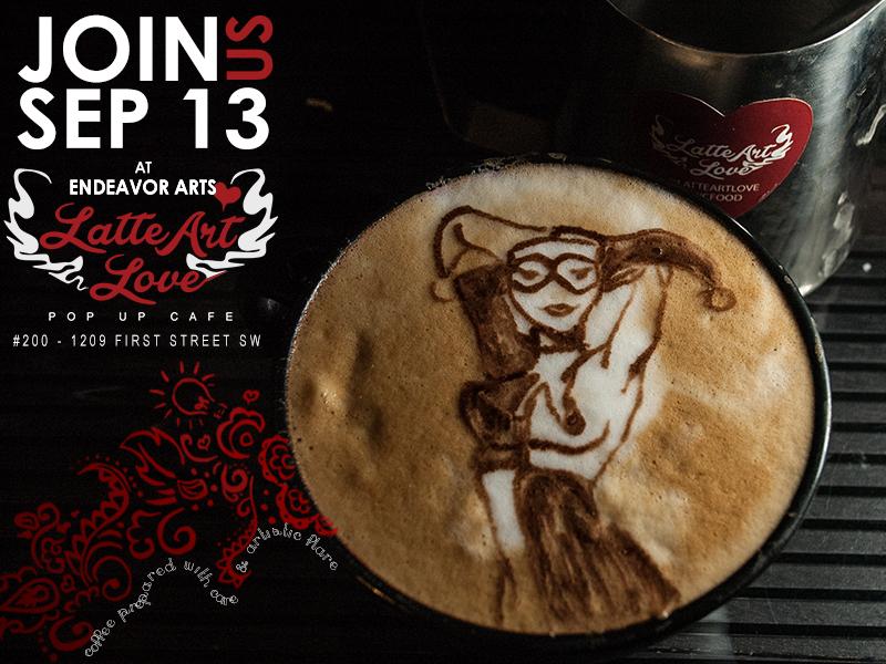 Latte Art - Harley Quinn