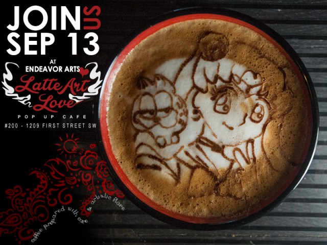 Latte Art Love - Sailor Moon x Garfield