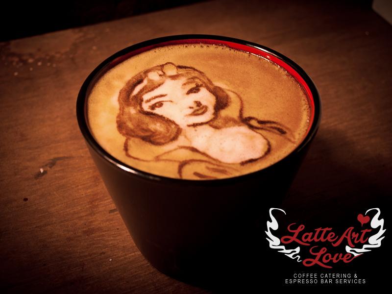 Latte Art Love - Snow White