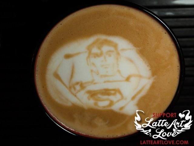 Latte Art - Superman