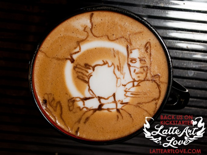 Latte Art - Batman & Robin
