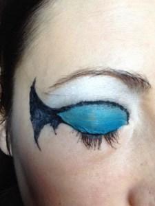Close up Batman Makeup