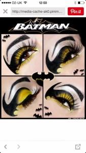 Pinterest Pin Batman Make-up