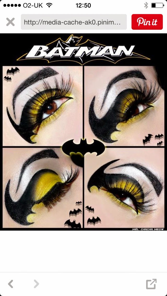 Pinterest Pin Batman Make-up
