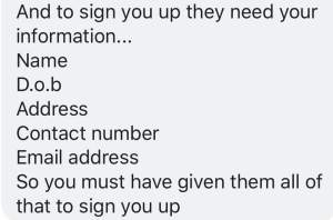 Hey hun! || How a sales rep can steal your details without you even knowing || Anyone else think that this message is trying to make me sound like a liar?