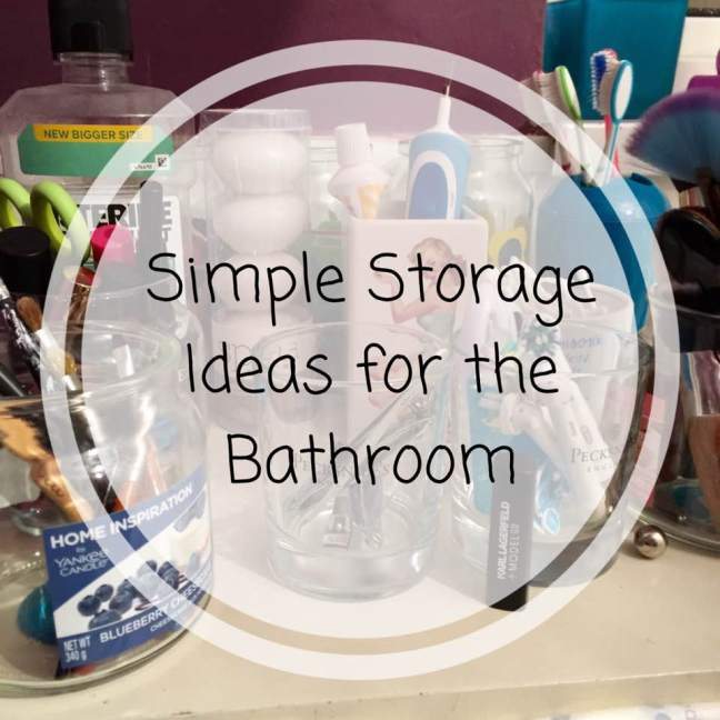 Simple Storage Ideas for the Bathroom