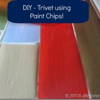 Trivet Using Paint Chips