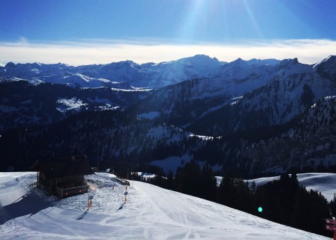 snowy mountain view