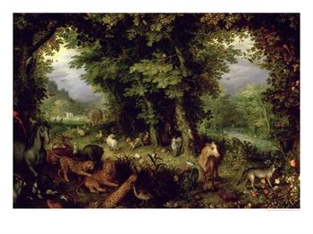 """Earth or the Earthly Paradise"" - Jan Bruegel, Jr. 1607"