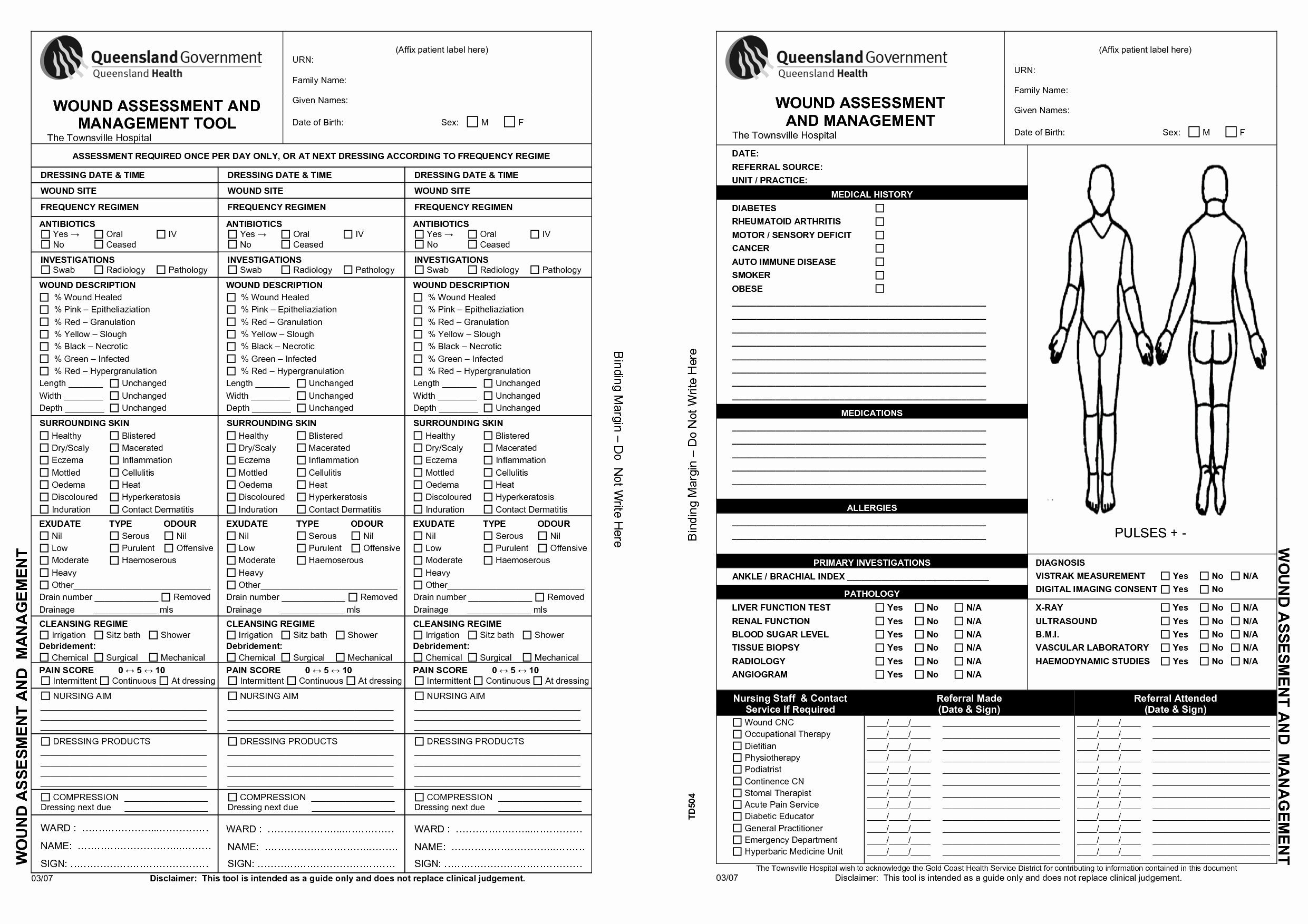 Wound Care Plan Template : 7 Wound Care forms Template