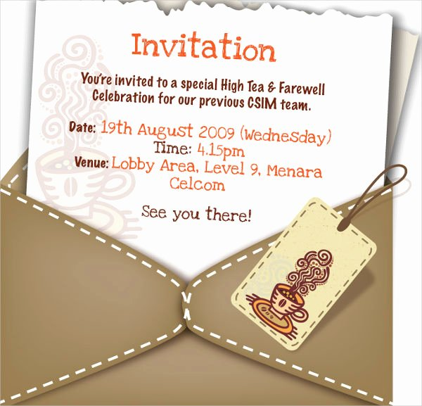 Farewell Party Invitations Templates | Latter Example Template