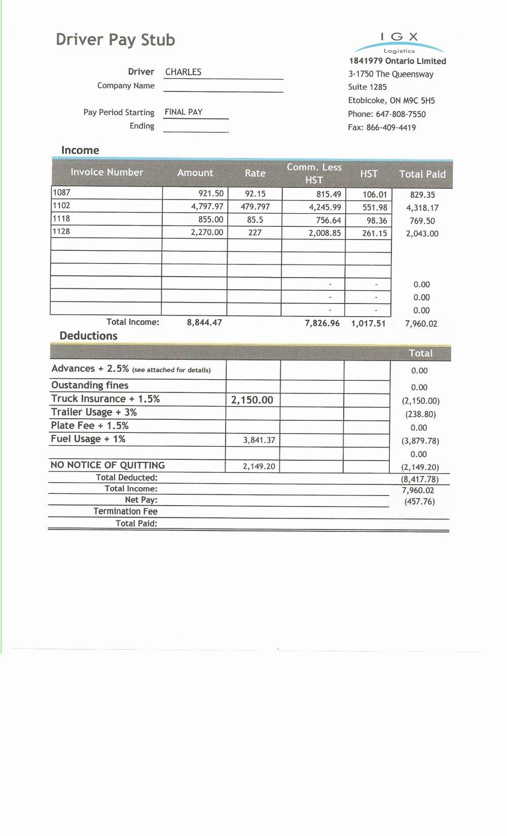 medium resolution of  fresh free check stub template printables