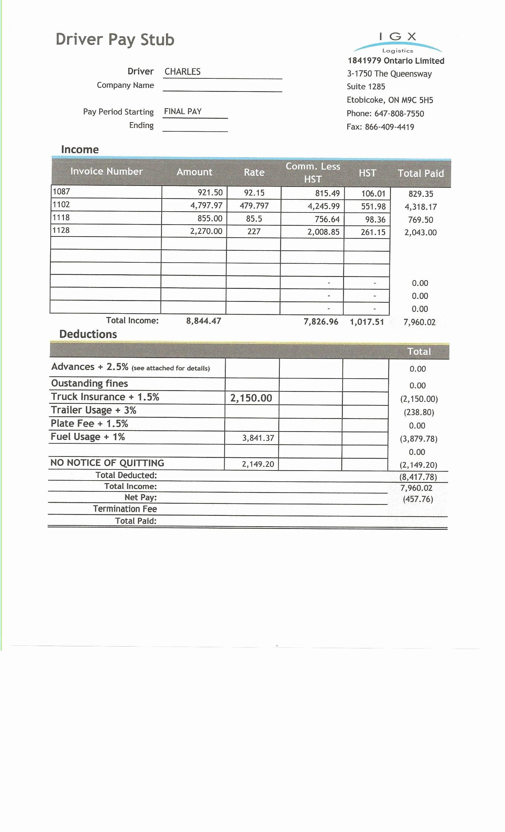 hight resolution of  fresh free check stub template printables