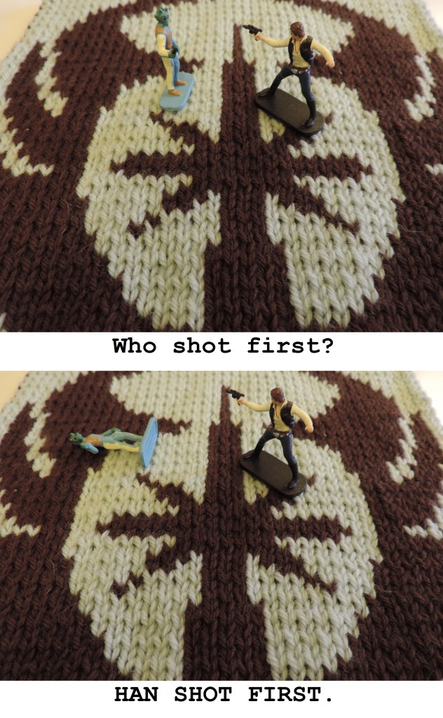GAL Star Wars blanket han shot first