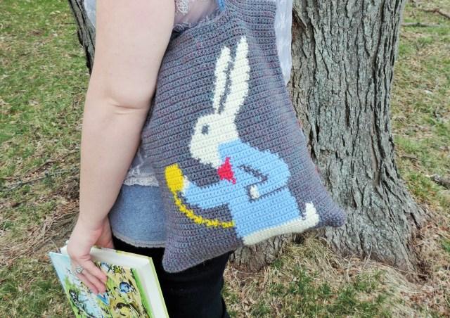 white rabbit tote