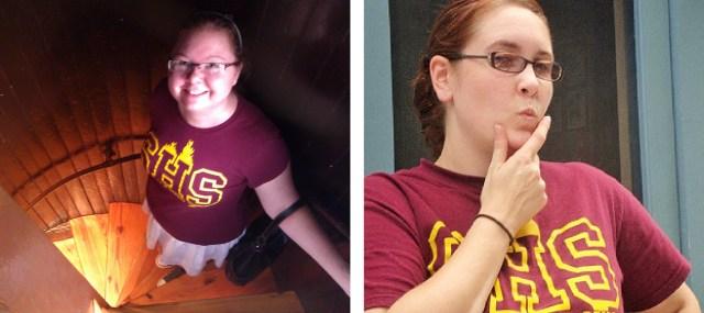 rocking the Buffy tshirt