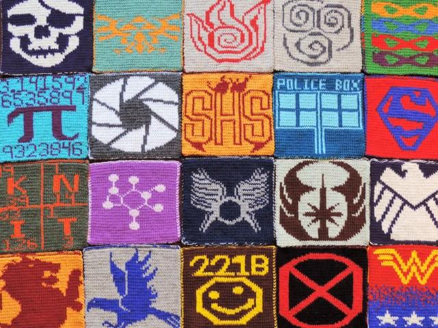 geek-a-long afghan blanket