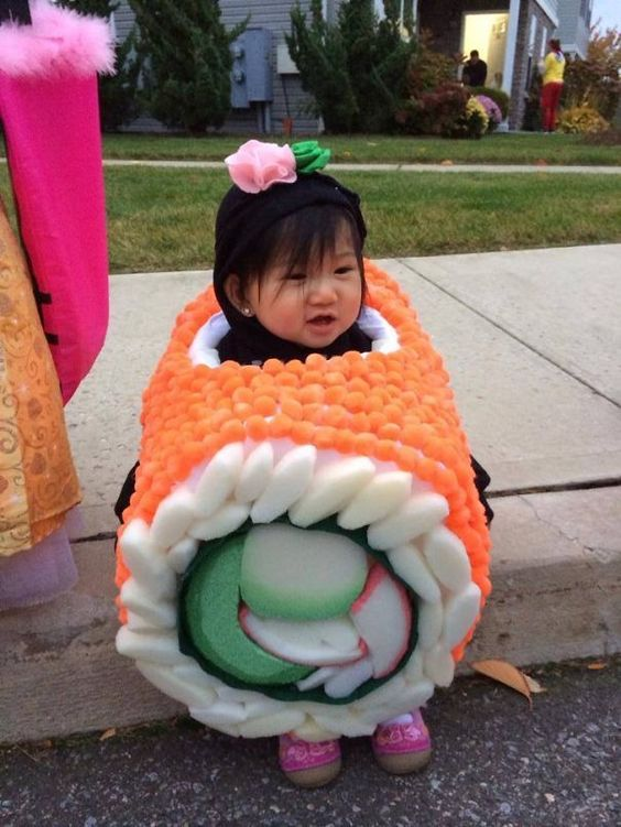 I didnu0027t know sushi could be so cute did you? I love this unique idea. You can buy a similar sushi costume here ...  sc 1 st  Lattes Lilacs u0026 Lullabies & 25 Adorable Halloween Costumes For Babies - Lattes Lilacs u0026 Lullabies